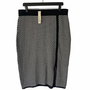 NWT • KIKIT • Black and White Pencil Skirt